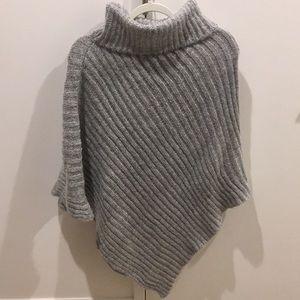 Other - Grey turtleneck poncho